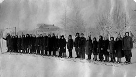 Команда лыжников